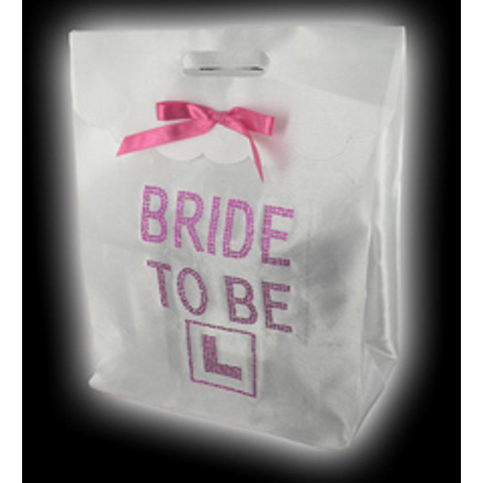 Satin White Gift Bag with strass