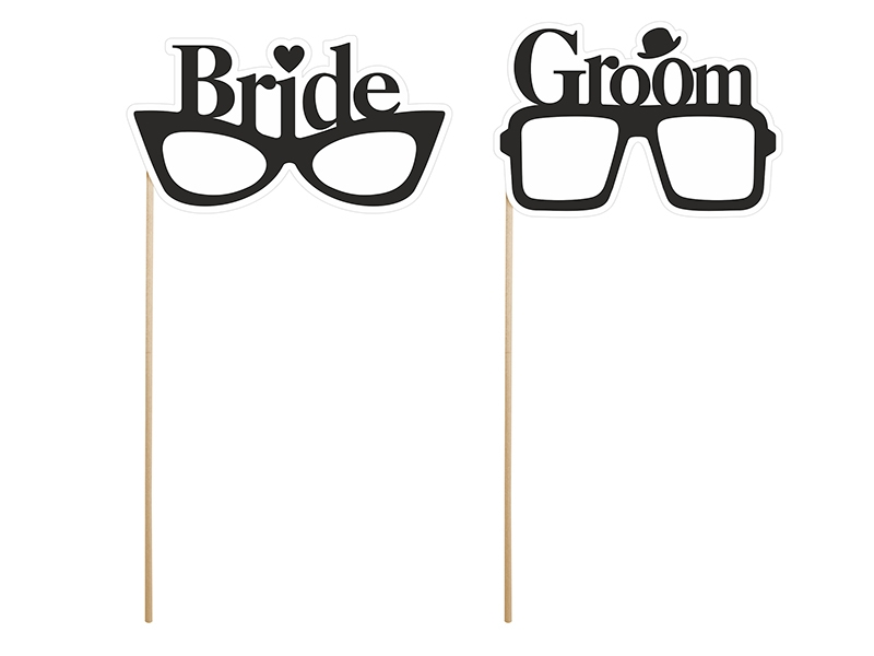 Props Bride & Groom Glasses (1 pkt / 2 pc.)