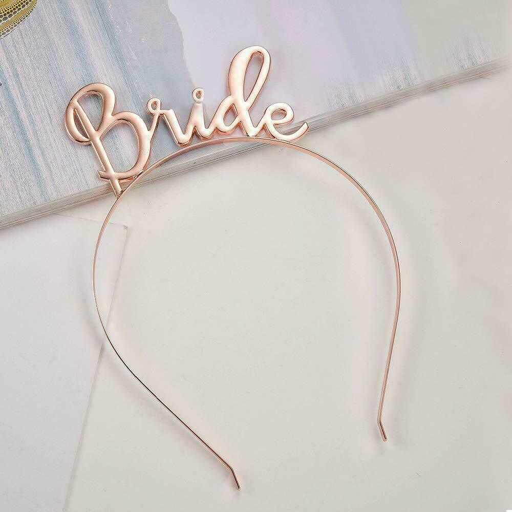 Bride Headband Gold