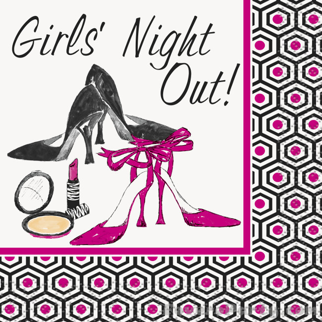 16 napkins Girls Night Out 25X25cm