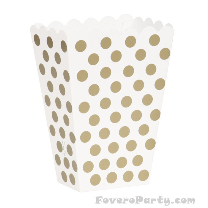 8 Gold dots treat boxes