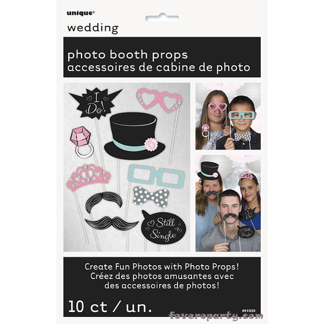 Wedding Photo booth kit (10pcs)