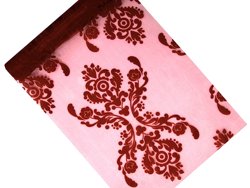 Printed Organza Deep Red 0.36 x 9m